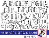 Whirlygig Letter Clip Art