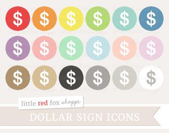 Dollar Sign Icon Clipart; Cash, Money, Bank