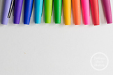 Dollar Stock Photo 107 Colorful Pens on Top