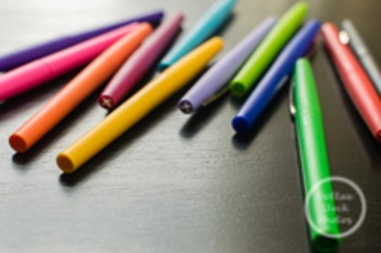 Dollar Stock Photo 111 Scattered Colorful Pens