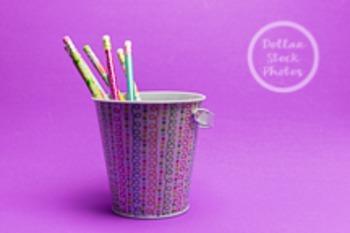 Dollar Stock Photo 201 Spring Pencil Bucket