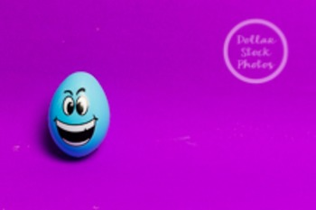 Dollar Stock Photo 207 Blue Easter Egg