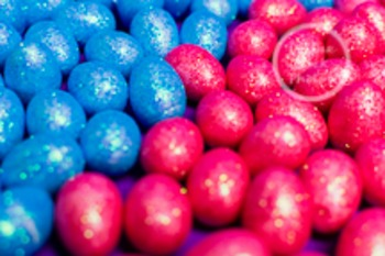 Dollar Stock Photo 210 Pink and Blue Glitter Eggs