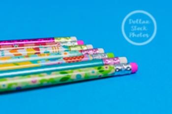 Dollar Stock Photo 216 Spring Pencil Erasers