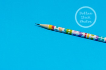Dollar Stock Photo 217 Spring Pencil on Blue