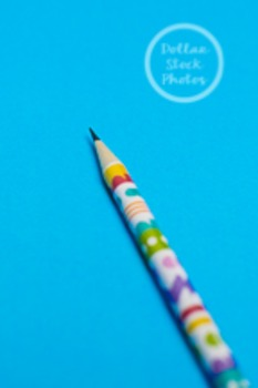 Dollar Stock Photo 218 Spring Pencil on Blue