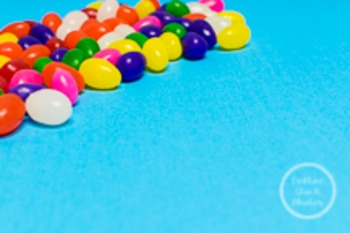 Dollar Stock Photo 220 Jellybeans on Blue
