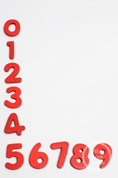 Dollar Stock Photo 225 Red Numbers in Order