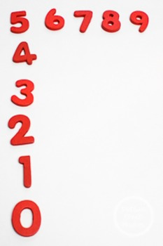 Dollar Stock Photo 226 Red Numbers in Order