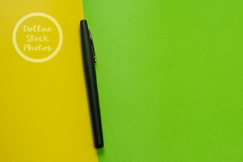 Dollar Stock Photo 275 Black Pen on Green and Yellow