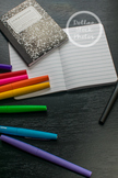 Dollar Stock Photo 276 Mini Notebooks with Colorful Pens