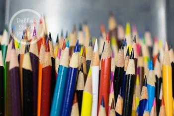 Dollar Stock Photo 299 Sharp Colored Pencils