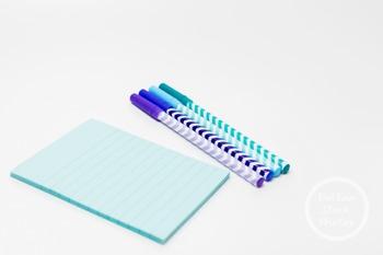 Dollar Stock Photo 333 Chevron Pens and Blue Notebook
