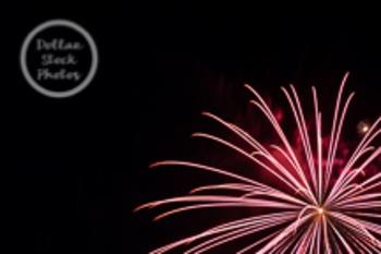 Dollar Stock Photo 34 Red Fireworks