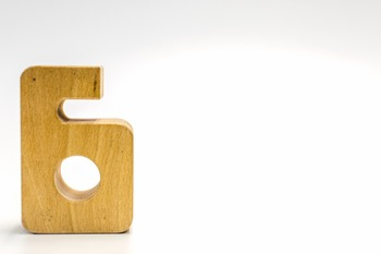 Dollar Stock Photo 357 Math Wooden Number Six