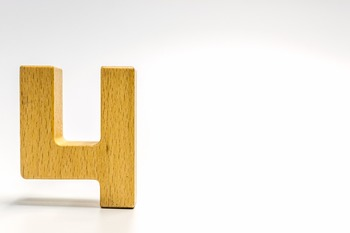 Dollar Stock Photo 359 Math Wooden Number Four