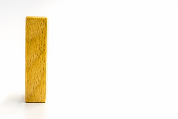 Dollar Stock Photo 362 Math Wooden Number One