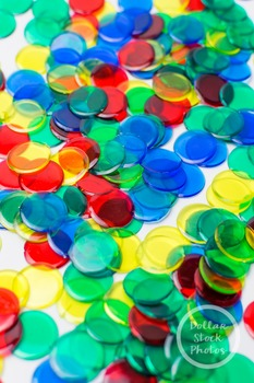 Dollar Stock Photo 369 Transparent Color Counters