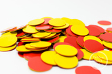 Dollar Stock Photo 370 Two Color Counters Red and Yellow