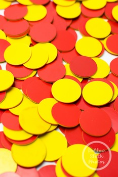 Dollar Stock Photo 371 Two Color Counters Red and Yellow