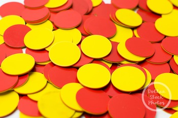 Dollar Stock Photo 372 Two Color Counters Red and Yellow