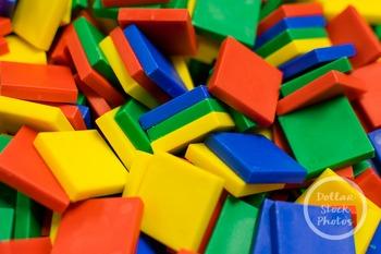 Dollar Stock Photo 376 Colorful Math Tiles