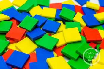 Dollar Stock Photo 377 Colorful Math Tiles