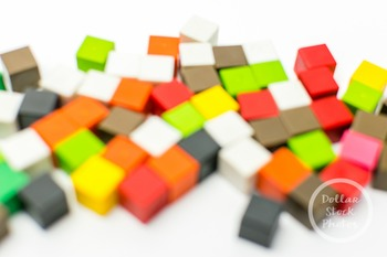Dollar Stock Photo 380 Blurry Colorful Math Cubes