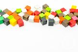 Dollar Stock Photo 381 Colorful Math Cubes