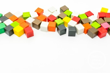 Dollar Stock Photo 381 Colorful Math Cubes