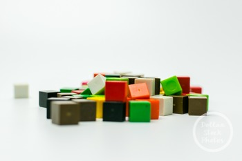 Dollar Stock Photo 383 Colorful Math Cubes