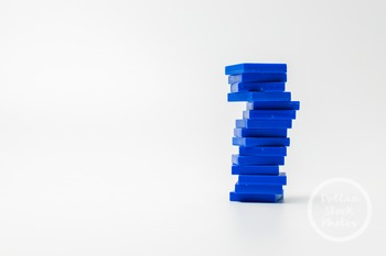 Dollar Stock Photo 389 Blue Math Tiles