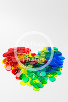 Dollar Stock Photo 401 Math Disks Heart