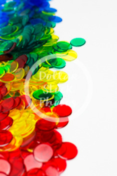 Dollar Stock Photo 413 Math Disks Rainbow Pile