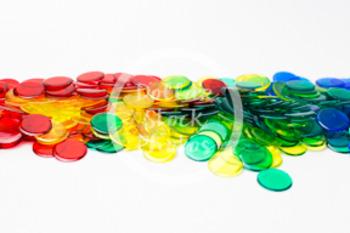 Dollar Stock Photo 414 Math Disks Rainbow Pile