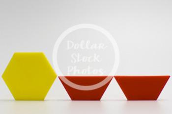 Dollar Stock Photo 416 Math Pattern Blocks Hexagon Trapezoid Half