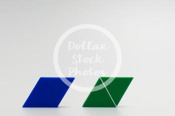 Dollar Stock Photo 419 Math Pattern Blocks Halves
