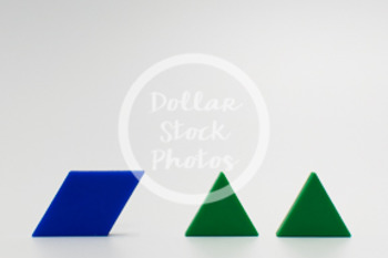 Dollar Stock Photo 420 Math Pattern Blocks Halves