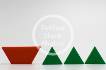 Dollar Stock Photo 422 Math Pattern Blocks Trapezoid and Triangles