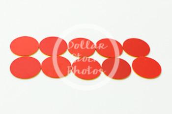 Dollar Stock Photo 424 Math 10 Red Disks
