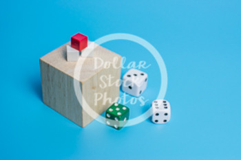 Dollar Stock Photo 432 Wooden Block and Dice  Cubes