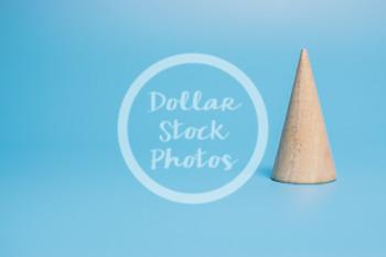 Dollar Stock Photo 434 Wooden Block Cone