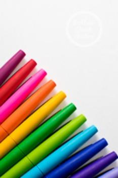Dollar Stock Photo 73 Rainbow Pens
