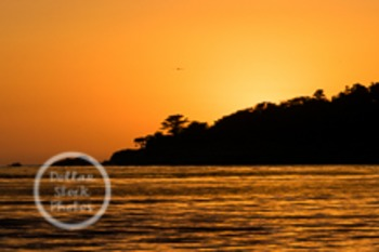 Dollar Stock Photo 8 Ocean Sunset