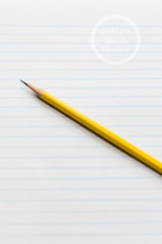 Dollar Stock Photo 92 Pencil on Lined Paper