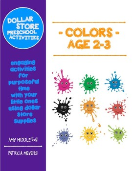 Dollar Store Preschool Activities - Ages 2-3 Colors