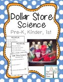 Dollar Store Science Pour and Mix Pre-K and Kindergarten