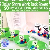 Dollar Store Work Task Boxes - 20 Activities with Visuals & Directions!
