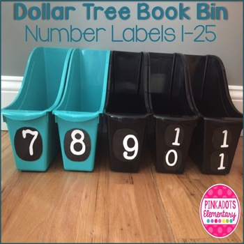 Dollar Tree Book Bin Number Labels