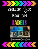 Dollar Tree Book Bin Number Labels - Colorful Arrows